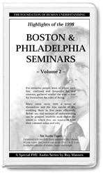 Highlights Of The 1998 East Coast Seminars Parts 7-12 (12 CDs)