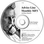 Monthly Advice Line on MP3 CD - $25 each
