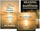 Meditation Package: Cure Stress: Be Still and Know CD & 2 Books: (1) Cure Stress: How Your Mind Will Make You Well and (2) Meaning and Happiness