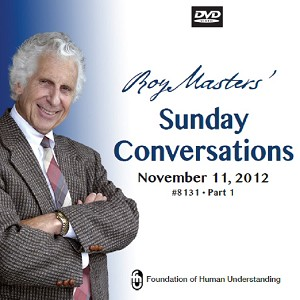 Sunday Conversation Nov 11th 2012 - Food With the Right Intent - Video DVD