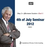 July 4th 2012 Seminar - Day 2 - PM - Video DVD